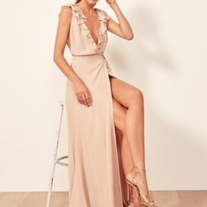 Reformation Peppermint dress - Champagne size S